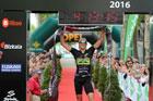 Gustavo Rodr�guez se ajusta su tercera txapela consecutiva en el Bilbao Triathlon 2016