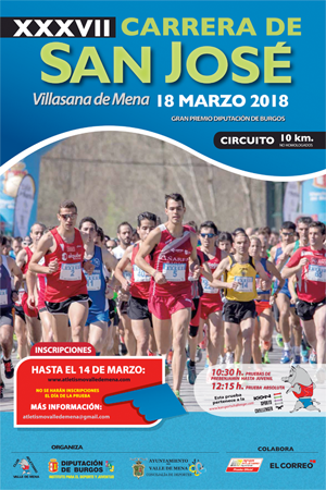 Carrera Popular San José Valle de Mena 2018, inscripción abierta